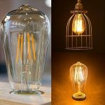Ampoule LED Edison Vintage, E27 4W (Equivalent 40W Incandescence) 400LM Ampoule Filament Style Antique 2700K Blanc Chaud ST64 Pack de 6, Couleur OR de la marque AidSci image 3 produit