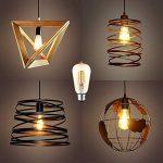 Ampoule LED Edison Vintage, E27 4W (Equivalent 40W Incandescence) 400LM Ampoule Filament Style Antique 2700K Blanc Chaud ST64 Pack de 6, Couleur OR de la marque AidSci image 1 produit