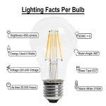 Ampoule LED Filament E27 4W, Équivalent à 40W Ampoule Halogène, 450 Lumens, Blanc Chaud 2700k, A60 Style, 360°Angle de Faisceau, Lampe Basse Consommation, Non-Dimmable, Pack de 3 unités de la marque xyd-led image 2 produit