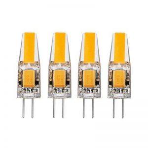 Ampoule LED G4 2W 12V AC/DC, ZSZT COB LED Blanc Chaud 2700K, Équivalent à Ampoule Halogène 20W, Lot de 4 pièce de la marque ZSZT image 0 produit