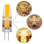 Ampoule LED G4 2W 12V AC/DC, ZSZT COB LED Blanc Chaud 2700K, Équivalent à Ampoule Halogène 20W, Lot de 4 pièce de la marque ZSZT image 3 produit