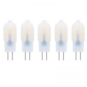 Ampoule LED G4 2W DC/AC 12V Equivalent à Lampe Halogène 10W, Blanc Chaud 3000K LED Lampe 150LM G4 Lumière Non Dimmable,360° Angle de Faisceau,Pack de 5 de la marque baoxing image 0 produit
