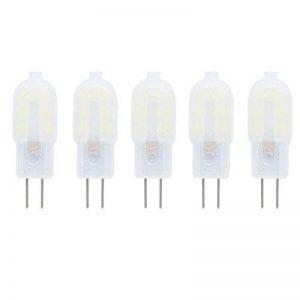 Ampoule LED G4 2W DC/AC 12V Equivalent à Lampe Halogène 10W, Blanc froid 6000K LED Lampe 150LM G4 Lumière Non Dimmable,360° Angle de Faisceau,Pack de 5 de la marque baoxing image 0 produit