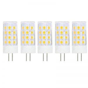 Ampoule LED G4 5W DC/AC 12V Equivalent à Lampe Halogène 40W, Blanc Chaud 3000K LED Lampe 400LM G4 Lumière Non Dimmable, 360° Angle de Faisceau, Pack de 5 de la marque baoxing image 0 produit