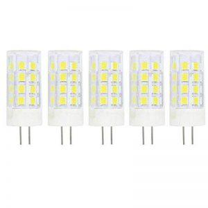 Ampoule LED G4 5W DC/AC 12V Equivalent à Lampe Halogène 40W, Cool blanc 6000K LED Lampe 400LM G4 Lumière Non Dimmable, 360° Angle de Faisceau, Pack de 5 de la marque baoxing image 0 produit