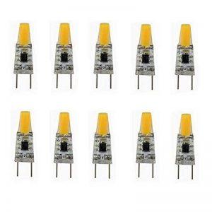 Ampoule LED G8, 110V 3W blanc chaud/blanc froid, ampoules à économie d'énergie (équivalent ampoule halogène 20W) pour l'éclairage de cuisine sous comptoir (10-Pack) (Couleur : Blanc chaud) de la marque Jusheng image 0 produit