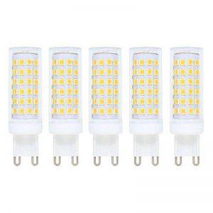 Ampoule LED G9 Dimmable,G9 led 9W,équivalent à 70 W lampe Halogène,3000K (Blanc chaud) 700lm,76 x 2835 SMD,AC200–240V,Super Lumineux LED Bulb,360°Angle de faisceau,Lot de 5 de la marque baoxing image 0 produit