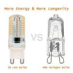 Ampoule LED G9, Jpodream 5W 64 x 3014 SMD LED Lampes Blanc Chaud 3000K, 450LM, 45W Halogène Lumière Equivalente, 360 Degrés Angle, AC 200-240V - Pack de 10 de la marque Jpodream image 2 produit
