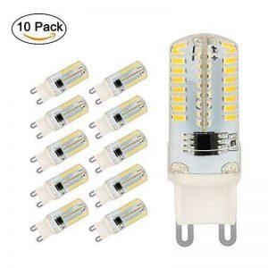 Ampoule LED G9, Jpodream 5W 64 x 3014 SMD LED Lampes Blanc Froid 6000K, 450LM, 45W Halogène Lumière Equivalente, 360 Degrés Angle, AC 200-240V - Pack de 10 de la marque Jpodream image 0 produit
