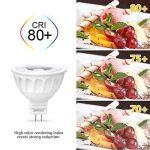 Ampoule LED Gu 5.3, Seealle 5W MR16 Gu5.3 Spot LED, Equivalent 50W Ampoule Halogène, 500Lumen, Blanc Chaud3000K, MR16 LED, AC/DC 12V, Non-Dimmable(Lot de 6) de la marque Seealle image 4 produit
