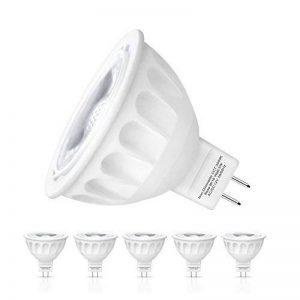 Ampoule LED Gu 5.3, Seealle 5W MR16 Gu5.3 Spot LED, Equivalent 50W Ampoule Halogène, 500Lumen, Blanc Chaud3000K, MR16 LED, AC/DC 12V, Non-Dimmable(Lot de 6) de la marque Seealle image 0 produit