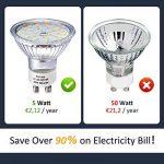 Ampoule LED GU10, 5W Équivalent Halogene 35W, 50W, Blanc Chaud 2800K, Spot Lampe Douille GU10, 480LM AC 230V, 100° Grand Angle NON-Dimmable Pack de 10 de la marque Eco.Luma image 2 produit