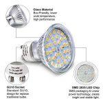 Ampoule LED GU10, 5W Équivalent Halogene 35W, 50W, Blanc Chaud 2800K, Spot Lampe Douille GU10, 480LM AC 230V, 100° Grand Angle NON-Dimmable Pack de 10 de la marque Eco.Luma image 1 produit