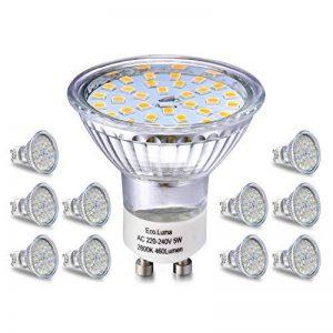 Ampoule LED GU10, 5W Équivalent Halogene 35W, 50W, Blanc Chaud 2800K, Spot Lampe Douille GU10, 480LM AC 230V, 100° Grand Angle NON-Dimmable Pack de 10 de la marque Eco.Luma image 0 produit
