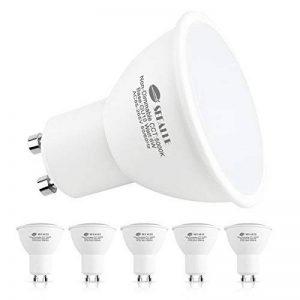Ampoule LED Gu10 6W , Seealle Ampoule Gu10 Équivalent à Ampoule Halogène 50W, 5000k Blanc Froid, 500 Lumen, Non-Dimmable, 120 °Angle De Faisceau, spot led gu10, Lumière Encastrée(Lot de 6) [Classe énergétique A+] de la marque Seealle image 0 produit
