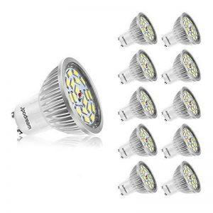 Ampoule LED GU10, 7W 18 x 5730 SMD Lampe LED, Blanc Froid 6000K, 550lm, AC85-265V, 140°Larges Angle d'Éclairage Ampoule Spot LED by Jpodream - Lot de 10 de la marque Jpodream image 0 produit