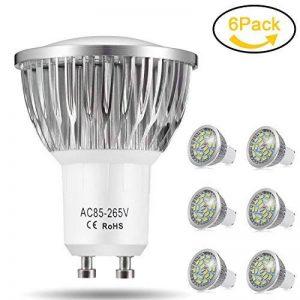 Ampoule LED GU10, 7W 18 x 5730 SMD Lampe LED, Blanc Froid 6000K, 550lm, AC85-265V, 140°Larges Angle d'Éclairage Ampoule Spot LED by Jpodream - Lot de 6 de la marque Jpodream image 0 produit