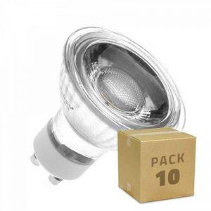 Ampoule LED GU10 COB Cristal 220V 5W (Pack 10) Blanc Chaud 3000K LEDKIA de la marque LEDKIA image 0 produit
