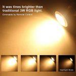Ampoule LED GU10 Couleur Changement RGB+Blanc Chaud, 3W Spotlight Lights Ampoule 2700K Dimmable par Télécommande Sans Fil, AC 85V-265V 20W D'équivalent Incandescent (Pack of 4) de la marque ChangM image 1 produit