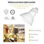 Ampoule LED GU10 Lampaous à économie d'énergie 5W - Ampoule halogène de rechange 50W GU10 - 450 lumen, Céramique, blanc, GU10, 5.00W 240.00V de la marque Lampaous image 3 produit