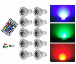 ampoule led gu10 multicolore télécommande TOP 1 image 0 produit