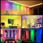 Ampoule LED GU10 Spot Ampoules 3W Changement De Couleur RGBW Dimmable Par 21 Touches Télécommande RGB Blanc Froid 6000K 20W Ampoules Halogènes Equivalent (Pack of 4) de la marque ChangM image 3 produit