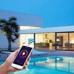 Ampoule LED intelligente avec Wi-Fi sans fil, fonctionne avec Alexa d'Amazon, lumière de nuit domotique, à intensité variable, lumière blanche chaude de la marque MEAMOR image 3 produit