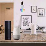 Ampoule LED intelligente Wi-Fi couleur - Avec variateur d'intensité - Ampoule à culot B22- Contrôle à distance à partir d'appareils intelligents et commande vocale par Amazon Alexa et Google Home - Moyeu pas nécessaire (puissance 7 W, lumière du jour bla image 4 produit