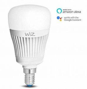 Ampoule LED intelligente WiZE14 - connectée par WiFi - blanc et couleurs. 64000 nuances de blanc, 16 millions de couleurs. Fonctionne avec Amazon Alexa et Google Home de la marque WiZ image 0 produit