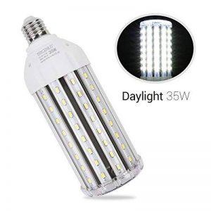 Ampoule Led Mais E27 35W Blanc Froid équivalent à 250-300W,Lampe Led Puissante 220V 3500LM 6500k,Super Lumineux Pour Exterieur Intérieur Grande Pièce Garage Entrepôt Terrasse Angle de diffusion 360° de la marque BRIGENIUS image 0 produit