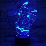 Ampoule LED Pokémon Pikachu Pokéball change de couleur USB Lumière Nocturne de la marque WoloShop image 4 produit