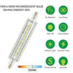 Ampoule LED R7s 118 mm, 10 W Projecteur LED Spot d'éclairage Blanc lumière du jour 4500 K, 1000LM R7s non dimmable ampoules basse consommation,forme cylindrique,Lot de 2 de la marque DASINKO image 2 produit