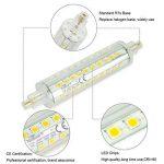 Ampoule LED R7s 118 mm, 10 W Projecteur LED Spot d'éclairage Blanc lumière du jour 4500 K, 1000LM R7s non dimmable ampoules basse consommation,forme cylindrique,Lot de 2 de la marque DASINKO image 3 produit
