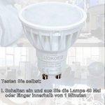 Ampoule LED Spot Culot Gu10 Blanc Naturel 4000K Dimmable 5.5W équivalent 50W 500lm LUOKOED x 10 de la marque LUOKOED image 2 produit