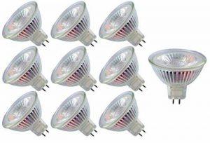Ampoule LED Trango® TGMR16-NT3 dimmable, GU5.3 MR16, 12 volts, 3000K, blanc chaud, Blanc chaud, GU5.3, 30.00W, 12.00V de la marque Trango image 0 produit