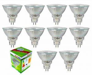 Ampoule LED Trango TGMR16030 MR16 GU5.3 - 3 W - Pour remplacer une ampoule halogène, Blanc chaud, GU5.3, 30.00W, 12.00V de la marque Trango image 0 produit