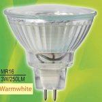 Ampoule LED Trango TGMR16030 MR16 GU5.3 - 3 W - Pour remplacer une ampoule halogène, Blanc chaud, GU5.3, 30.00W, 12.00V de la marque Trango image 1 produit