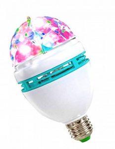 AMPOULE LED à VISSER STRUCTURE CRISTAL ROTATIVE EFFET BOULE SOIREE DISCO de la marque FULL COLOR ROTATIVE LAMP image 0 produit