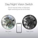 Ampoule marque weesee, LED, d'angle complet avec œil de poisson, WiFi, IP cachée, 1080p, HD, caméra de sécurité pour intérieur espion pour application IOS Android, caméra de vision à distance, espion niñeras de la marque Weesee image 4 produit