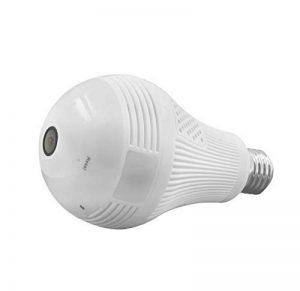 Ampoule marque weesee, LED, d'angle complet avec œil de poisson, WiFi, IP cachée, 1080p, HD, caméra de sécurité pour intérieur espion pour application IOS Android, caméra de vision à distance, espion niñeras de la marque Weesee image 0 produit