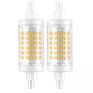 Ampoule R7S LED 7W 78mm 700 lm Lampes- Blanc Froid 6000k 100-265V R7S 70W Halogène Ampoule remplacement, 360 ° Angle de faisceau, Non-Dimmable, Lot de 2 de la marque KDP image 0 produit