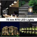 Ampoule R7S LED 7W 78mm 700 lm Lampes- Blanc Froid 6000k 100-265V R7S 70W Halogène Ampoule remplacement, 360 ° Angle de faisceau, Non-Dimmable, Lot de 2 de la marque KDP image 4 produit