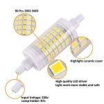 Ampoule R7S LED 7W 78mm 700 lm Lampes- Blanc Froid 6000k 100-265V R7S 70W Halogène Ampoule remplacement, 360 ° Angle de faisceau, Non-Dimmable, Lot de 2 de la marque KDP image 2 produit