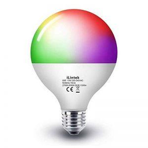 Ampoule Smart Bulb E27 LED Multicolore Dimmable Ampoule Intelligente iLintek Bluetooth Lampe Ambiance Pas de Hub Requis Télécommande Par Smartphone (G95-13W-1100LM) de la marque iLintek image 0 produit