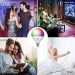 Ampoule Smart Bulb E27 LED Multicolore Dimmable Ampoule Intelligente iLintek Bluetooth Lampe Ambiance Pas de Hub Requis Télécommande Par Smartphone (G95-13W-1100LM) de la marque iLintek image 4 produit