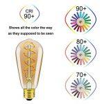 Ampoule ST64 Filament Flexible LED Ancien Edison - Dimmable,4 Watt,Equivalent à 25 Watt,Blanc Extra Chaud 2200K,E27 Culot,Ambré,Double Filage en Spirale,Classe énergétique A++ de la marque Yunte image 4 produit