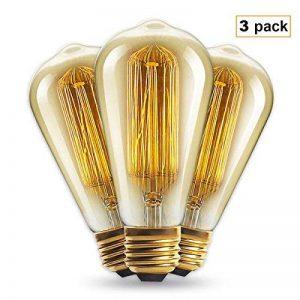 Ampoule vintage 60W–Cage d'écureuil Filament (ancienne Edison) Vis E27Int® Lot de 3 de la marque INT image 0 produit