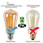 Ampoule vintage E27, Aurora France, Led ampoule Edison E27 4W equivalent d'ampoule incandescence 40W, ampoule Rétro ST64 Antique Lampe Décorative 6 Pack Blanc Chuad [Classe énergétique A++] de la marque Aurora France image 3 produit