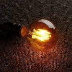Ampoule Vintage LED, Elfeland 2 Packs E27 6W Ampoule Edison Lampe Rétro Antique Dimmable Ampoule Décorative Amber 600LM 2200K Lumière Blanc Chaud pour Lustres Plafonniers Modèle G80 de la marque ELFELAND image 4 produit
