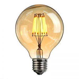 Ampoule Vintage LED, Elfeland E27 6W Ampoule Edison Lampe Rétro Antique Dimmable Ampoule Décorative Amber 600LM 2200K Lumière Blanc Chaud pour Lustres Plafonniers Modèle G80 de la marque Elfeland image 0 produit